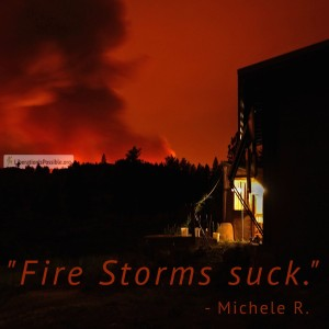 """""""At night the fire had a most incredible roar."""" -Twig"""